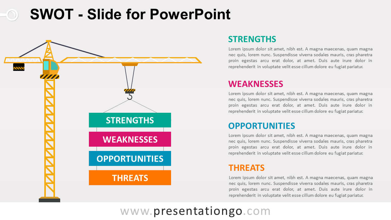 Free SWOT Slide Template for PowerPoint
