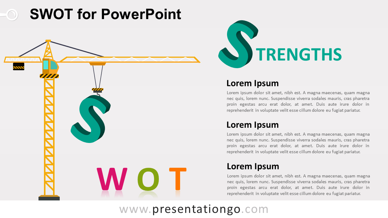 SWOT Template for PowerPoint - Strengths