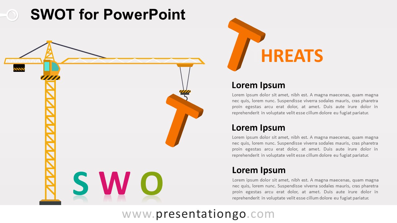 SWOT Template for PowerPoint - Threats