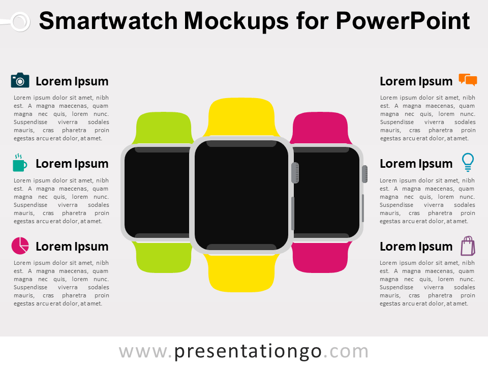 Free Smartwatch Mockup for PowerPoint