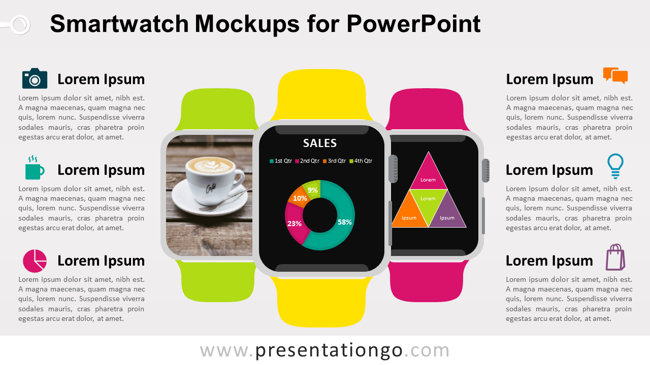 Free Smartwatch Mockups PowerPoint Template