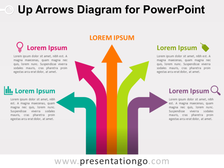 Free Up Arrows Diagram for PowerPoint