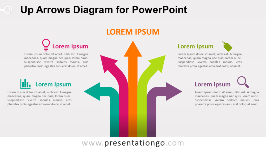 Free Up Arrows PowerPoint Template