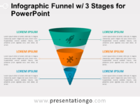 Free Infographic Funnel with 3 Stages for PowerPoint