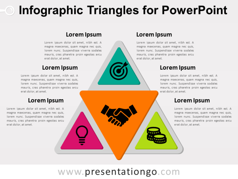 Free Infographic Triangles for PowerPoint