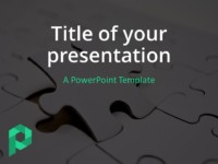 Free Jigsaw Puzzle PowerPoint Template (Dark) - Cover Slide