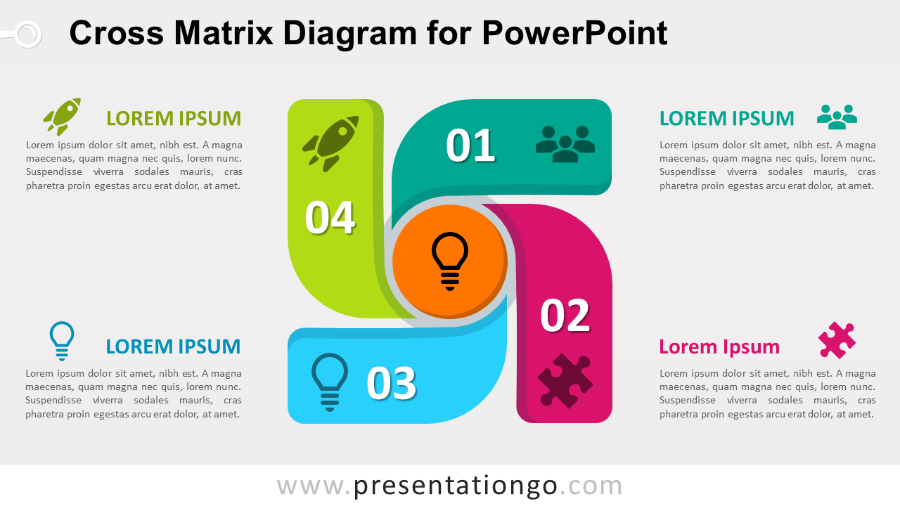 Free Cross Matrix for PowerPoint