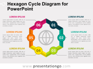 Free Hexagon Cycle Diagram for PowerPoint