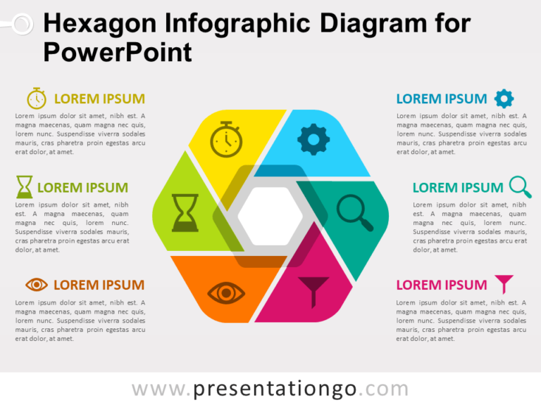 Free Hexagon Infographic Diagram for PowerPoint