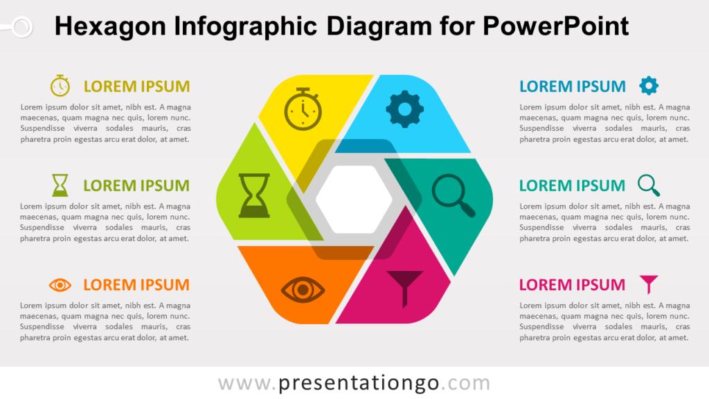 Free Hexagon Infographic PowerPoint