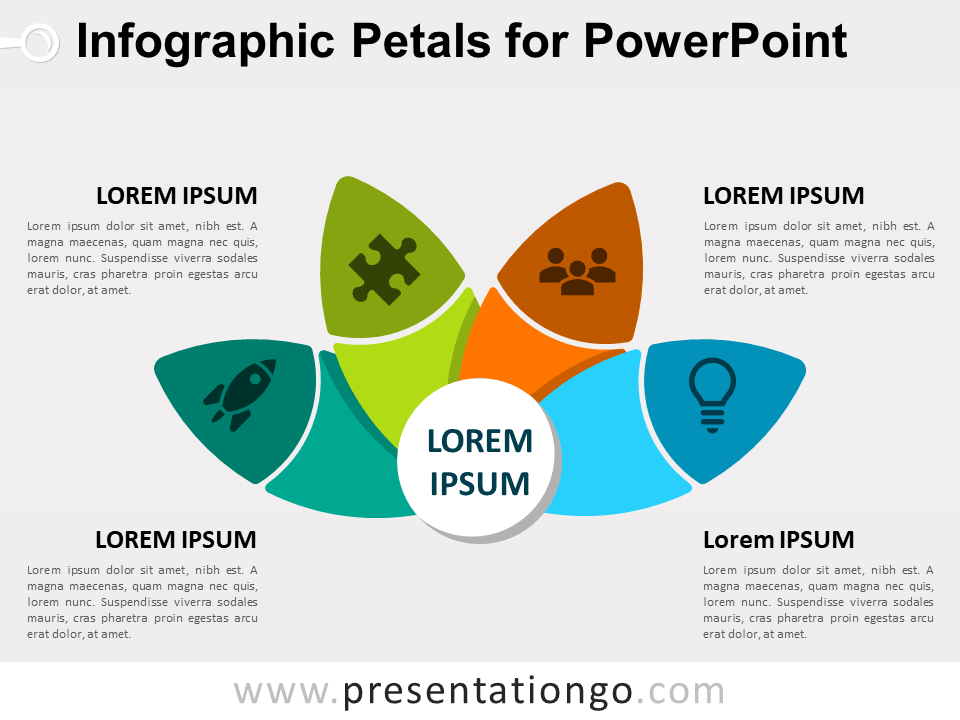 Free Infographic Petals for PowerPoint
