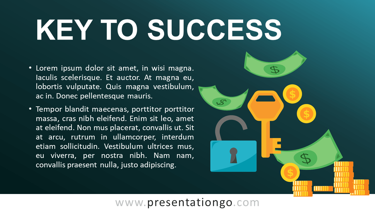 Key to Success for PowerPoint - Concept