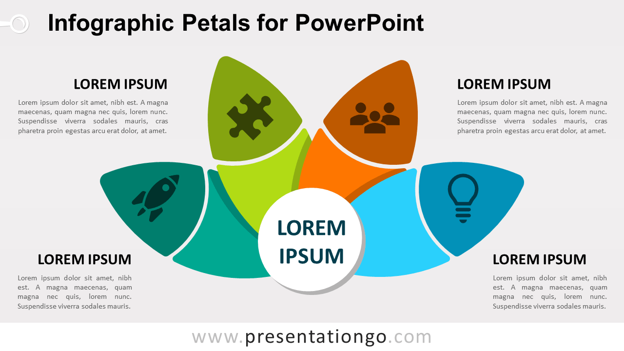 Free Petals Diagram for PowerPoint