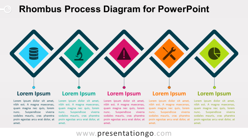 Free Rhombus Process for PowerPoint