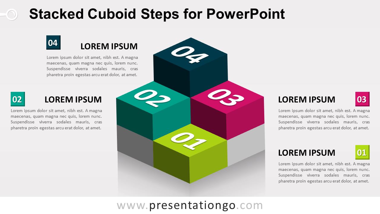 Stacked Cuboids for PowerPoint
