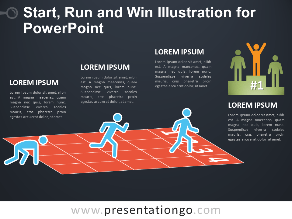 Start, Run and Win for PowerPoint - Dark Background