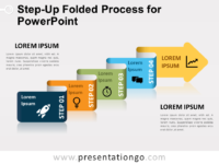 Free Step-Up Folded Process for PowerPoint
