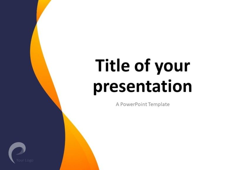 Free Modern Business PowerPoint Template - Title Slide (Cover)