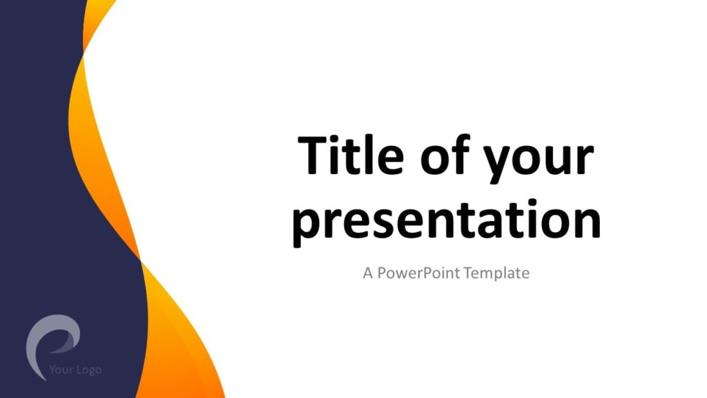Modern Business Template for PowerPoint - Title (Cover) Slide