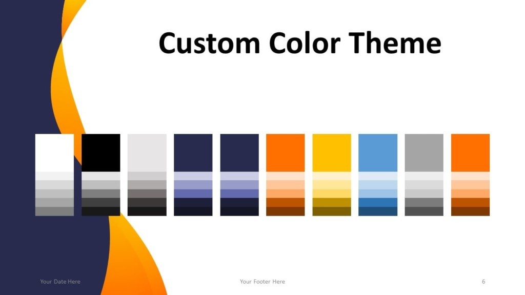 Modern Business Template for PowerPoint - Color Theme