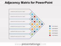 Free Adjacency Matrix Diagram for PowerPoint