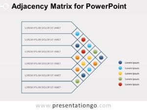 Free Adjacency Matrix Diagram for PowerPoint