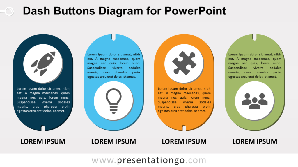Free Dash Buttons for PowerPoint