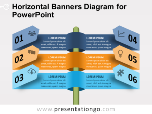 Free Horizontal Banners Diagram for PowerPoint