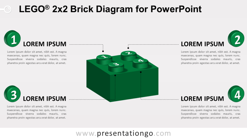 Lego Brick Diagram for PowerPoint