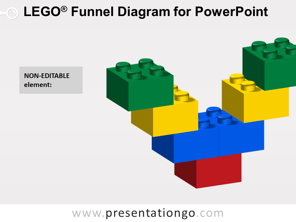 Lego Funnel Diagram for PowerPoint - Not Editable Elements