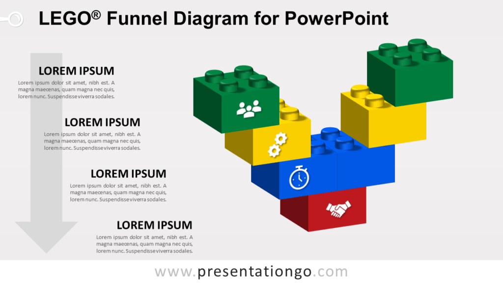 Lego Funnel for PowerPoint