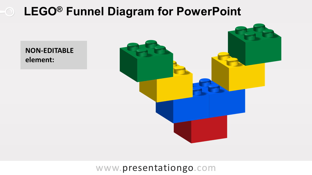 Lego Funnel for PowerPoint - Not Editable Elements