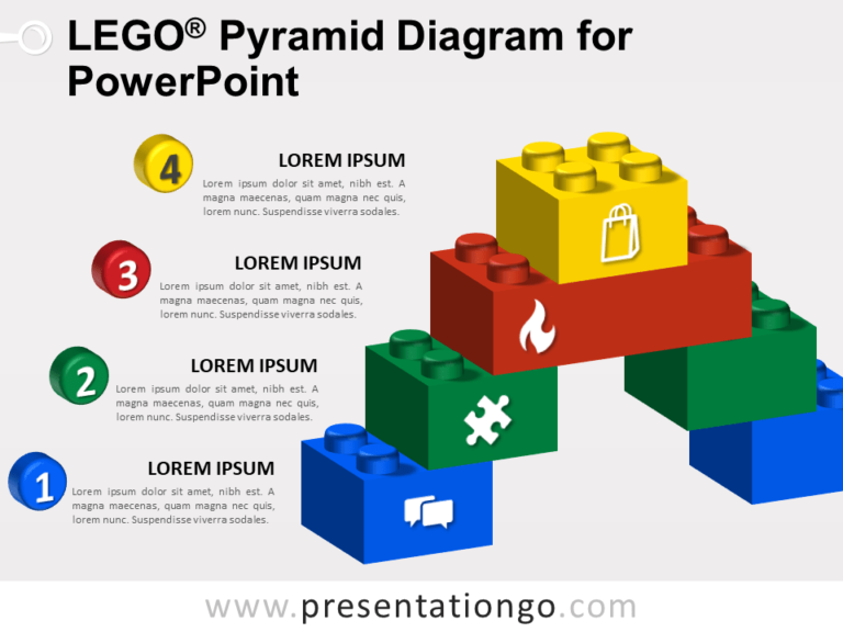 Free Lego Pyramid Diagram for PowerPoint