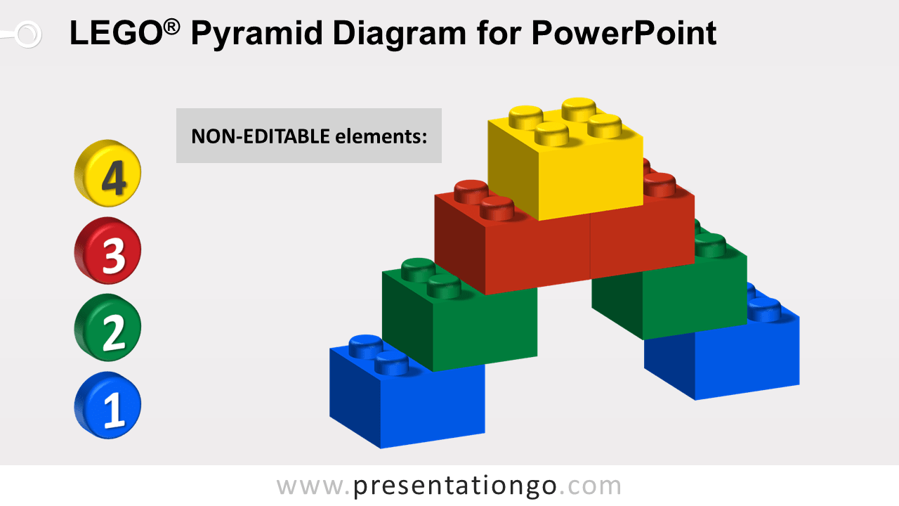 Lego Pyramid for PowerPoint - Not Editable Elements