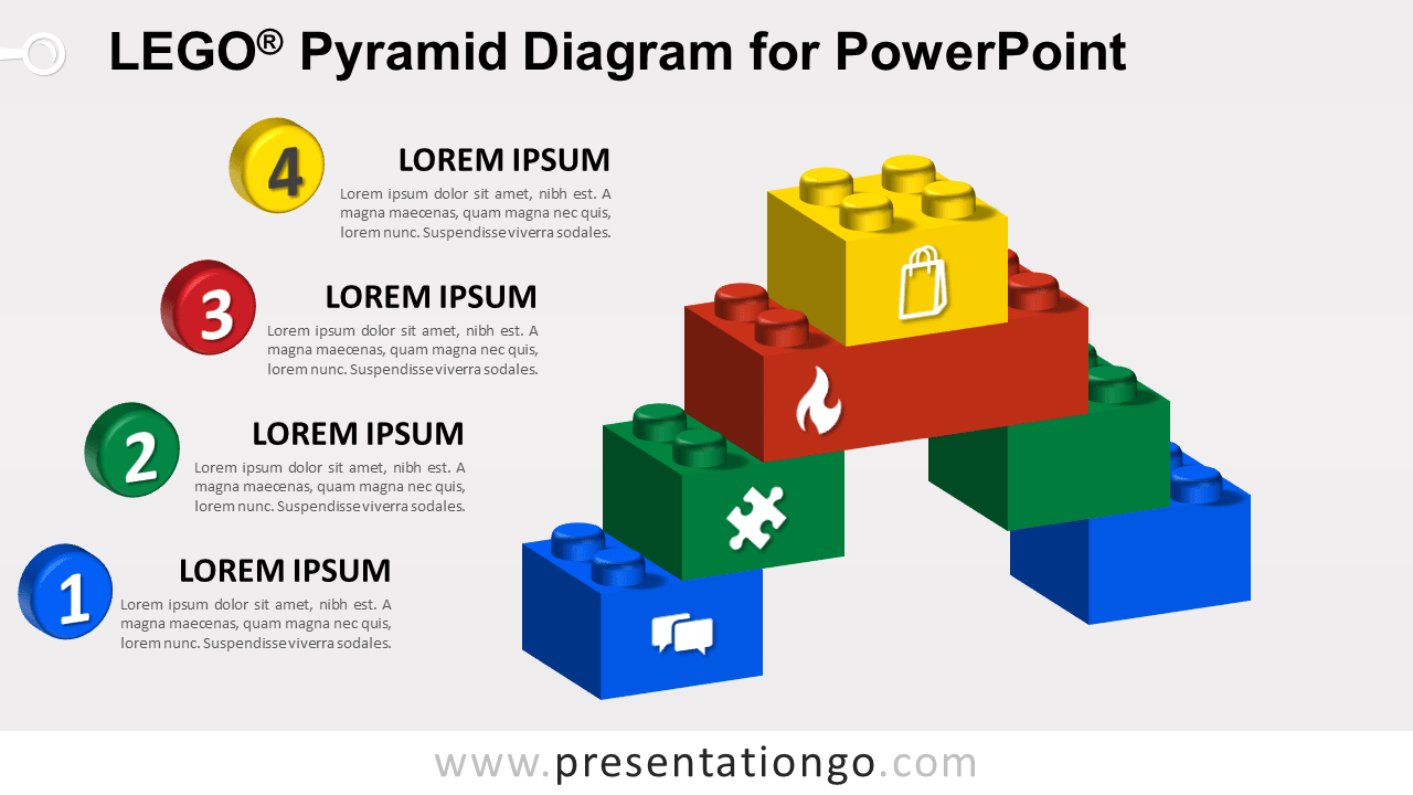 Lego Pyramid for PowerPoint