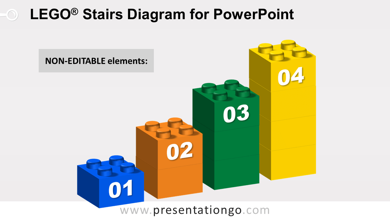 Lego Stairs for PowerPoint - Not Editable Elements