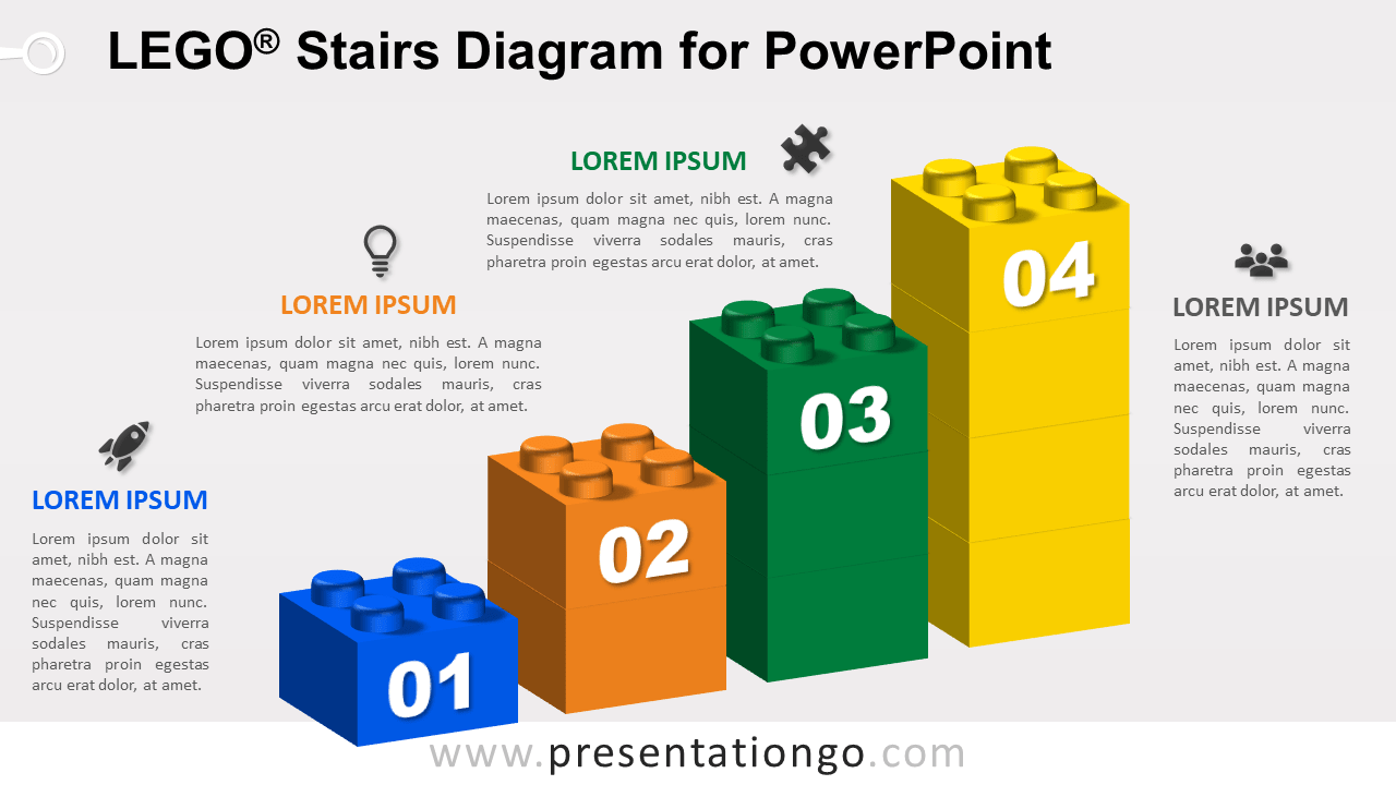 Lego Stairs for PowerPoint