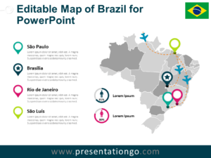 Free Map of Brazil for PowerPoint