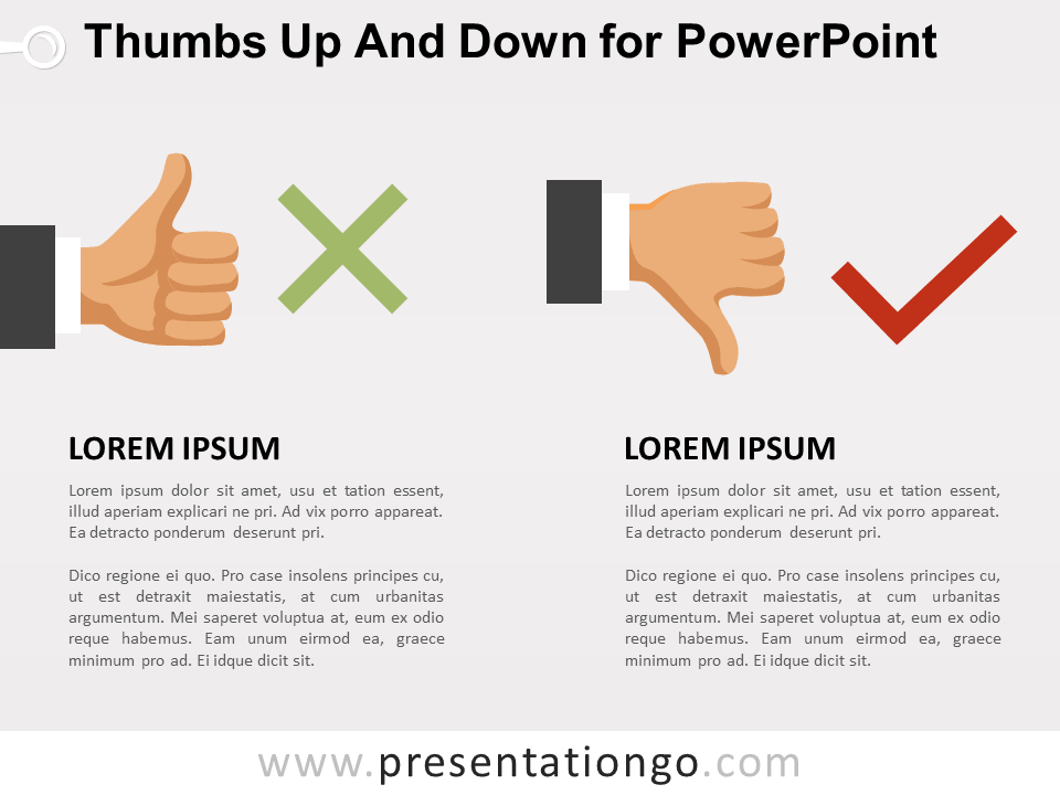 Free Thumbs-Up and Down for PowerPoint
