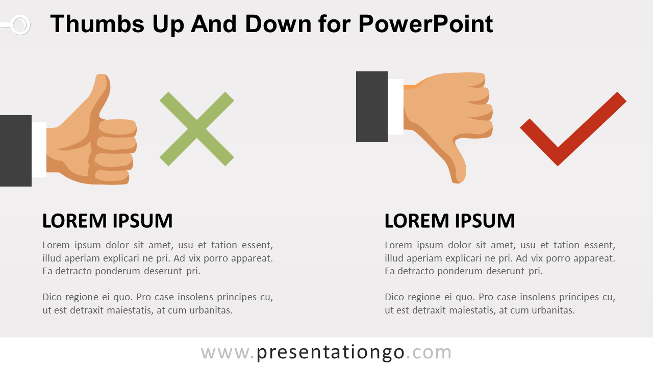 Thumbs-Up and Down for PowerPoint