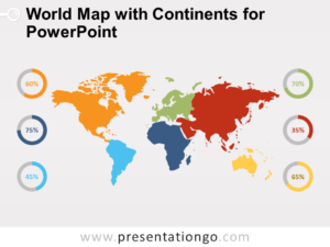 Free World Map with Continents for PowerPoint
