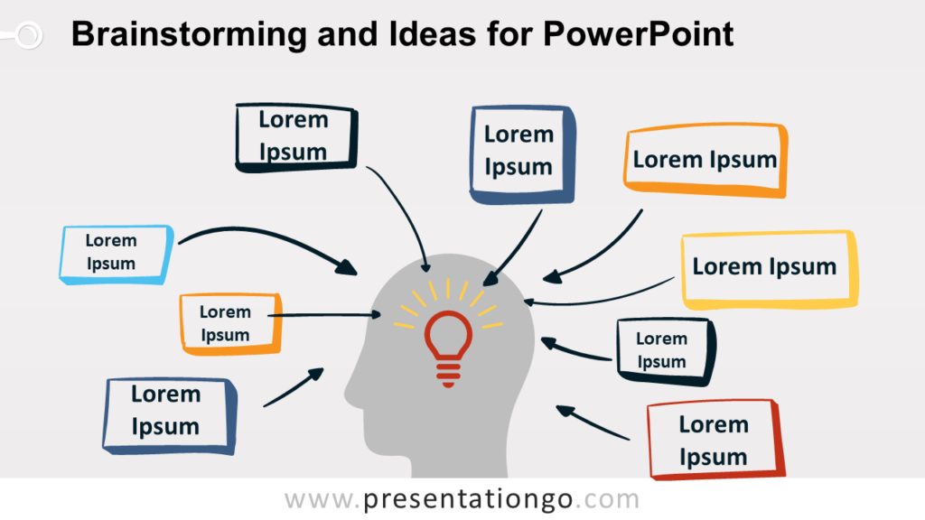 Brainstorming and Ideas Metaphor for PowerPoint