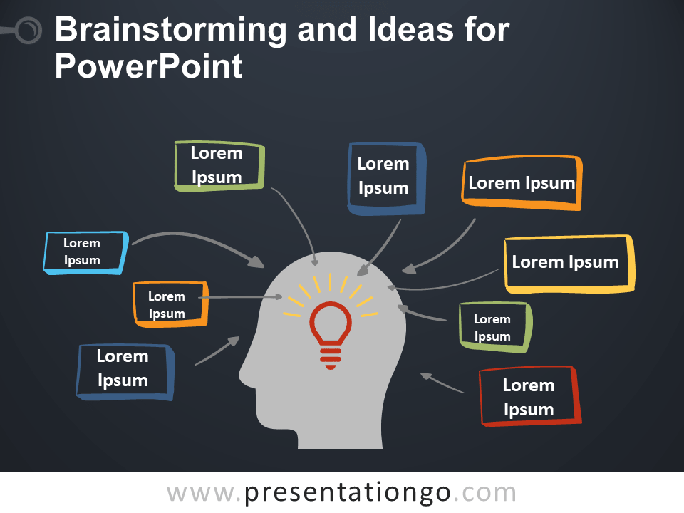 Free Brainstorming and Ideas for PowerPoint - Dark Background
