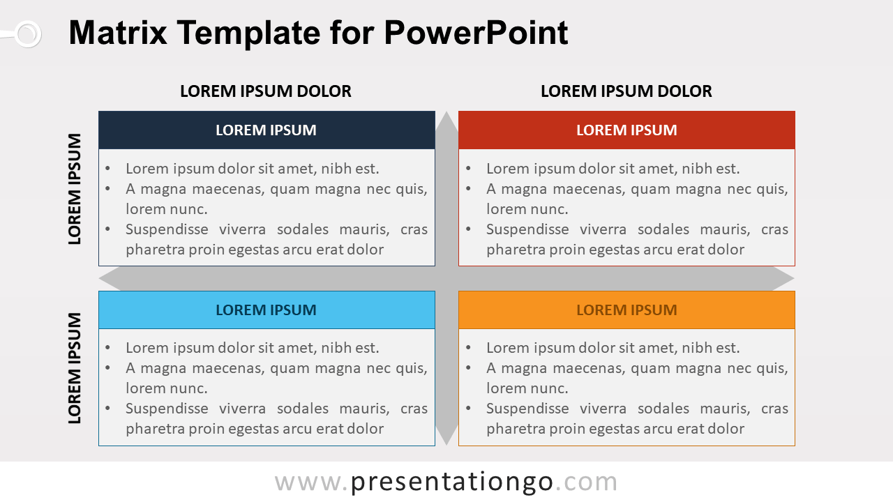 Business Matrix Template for PowerPoint
