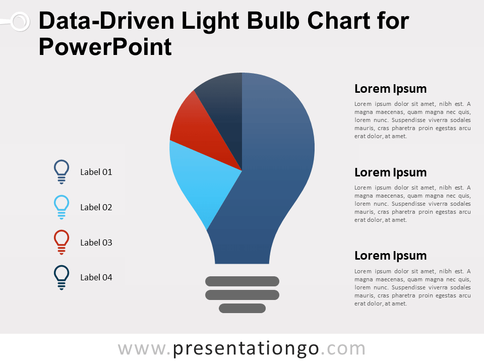 Free Data-Driven Light Bulb Chart for PowerPoint