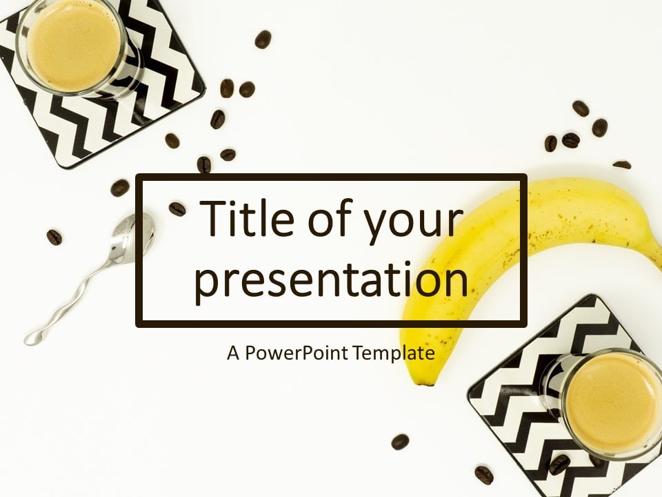 Flat Lay Banana And Coffee Powerpoint Template