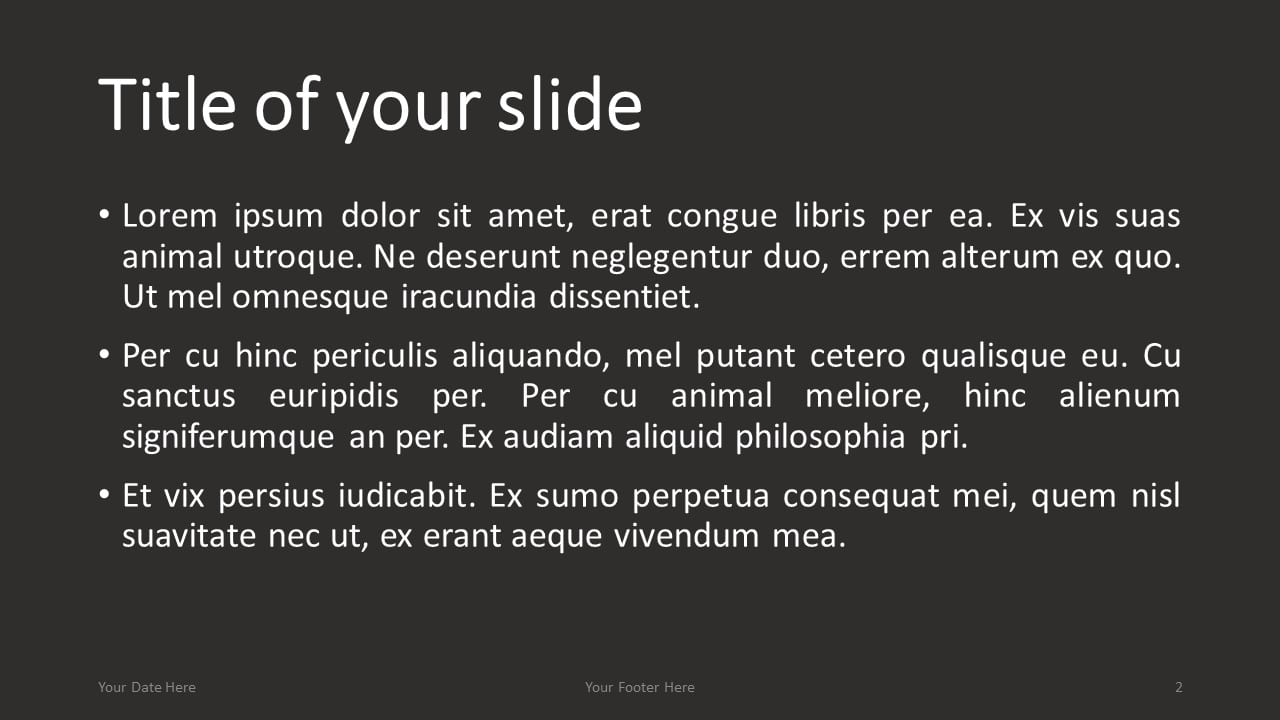 Flat Lay PowerPoint Template with iMac Keyboard - Title and Content Slide