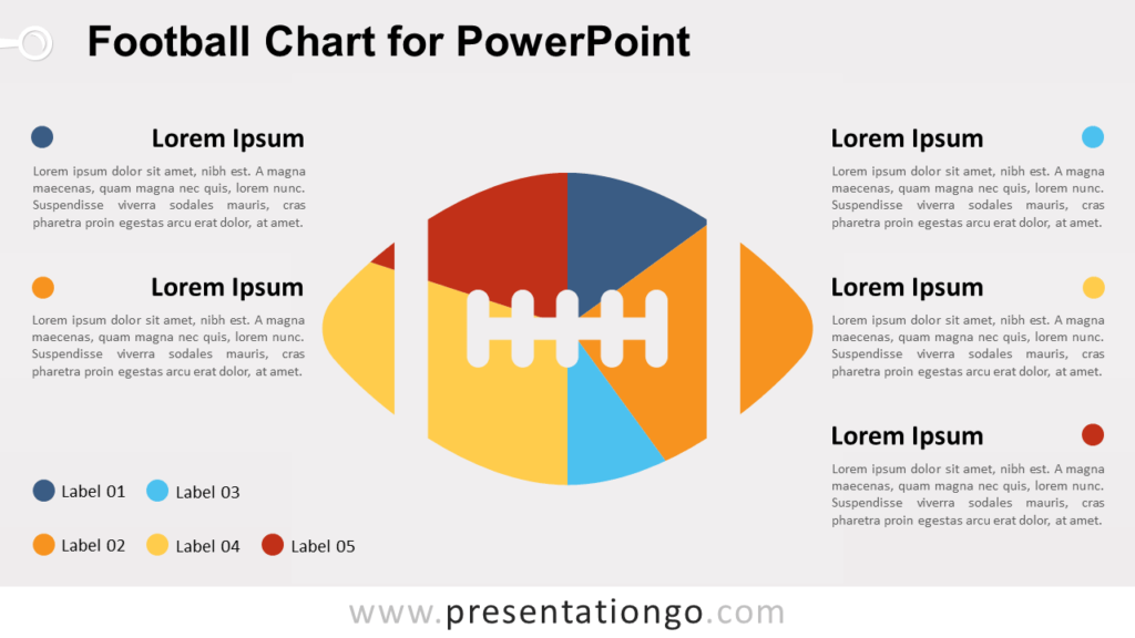 Football Chart for PowerPoint