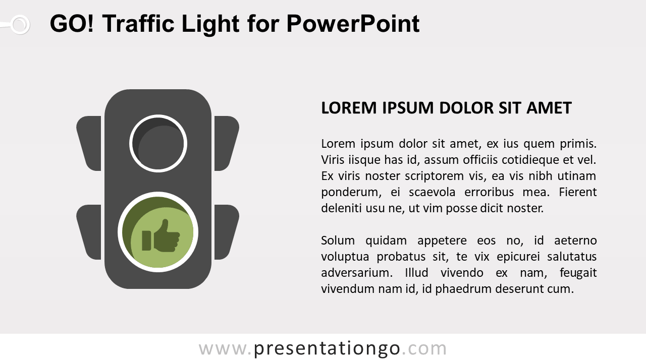 Free Go Green Traffic Light for PowerPoint