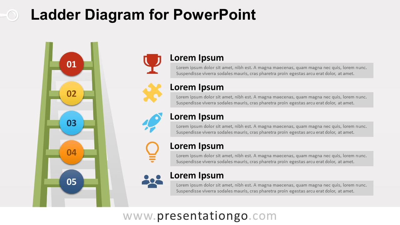 Ladder Diagram For Powerpoint Presentationgo Com
